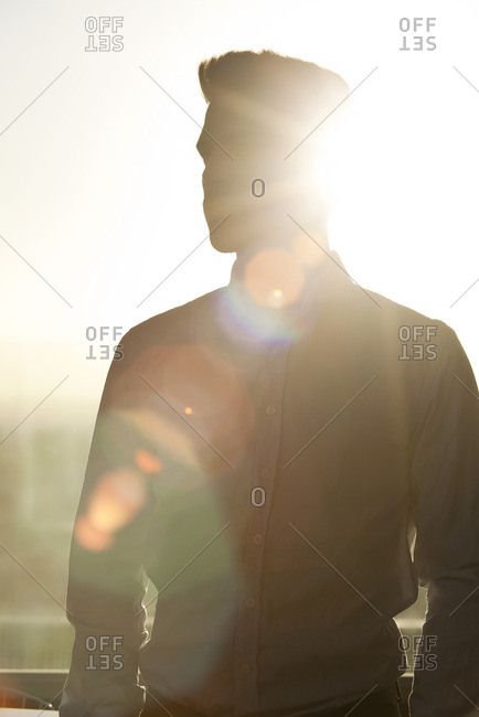 Young man, silhouette
