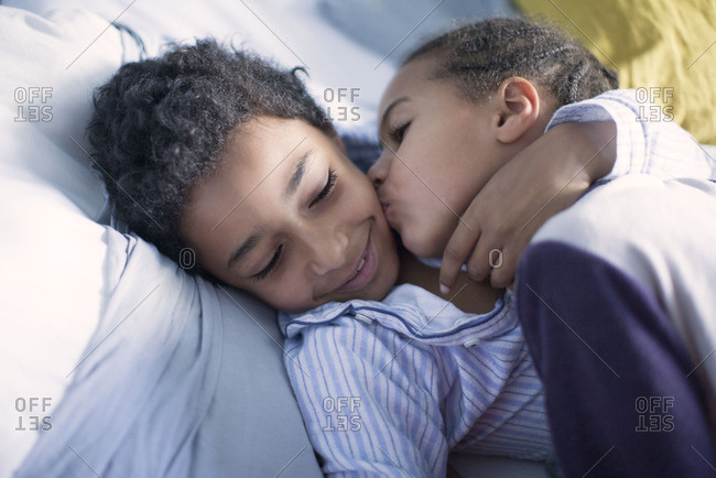 Children embracing
