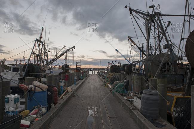 Fishing boats along dock