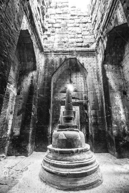 Interior of ancient temple at Angkor Wat, Siem Reap, Cambodia