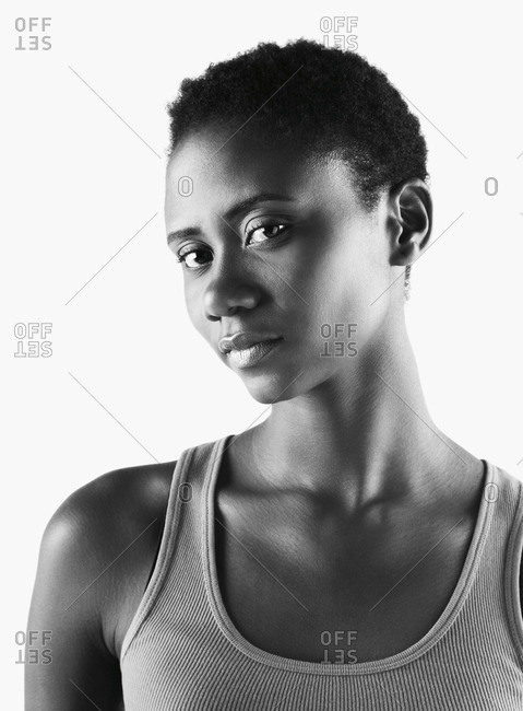 Close up of African woman