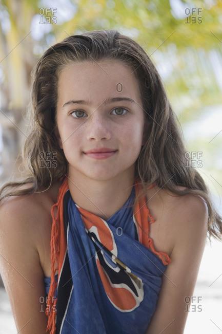 Close up of girl in sarong