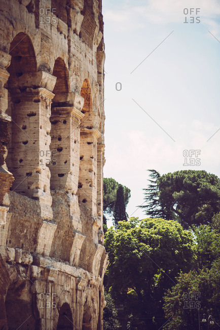 Colosseum remains in Rome, Italy