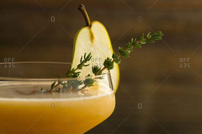 Pear cocktail close-up