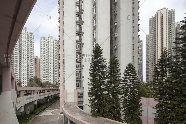 High rise residential buildings in Tsing Yi, Hong Kong