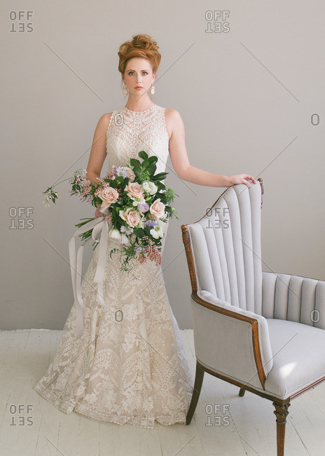 A bride in a fishtail dress