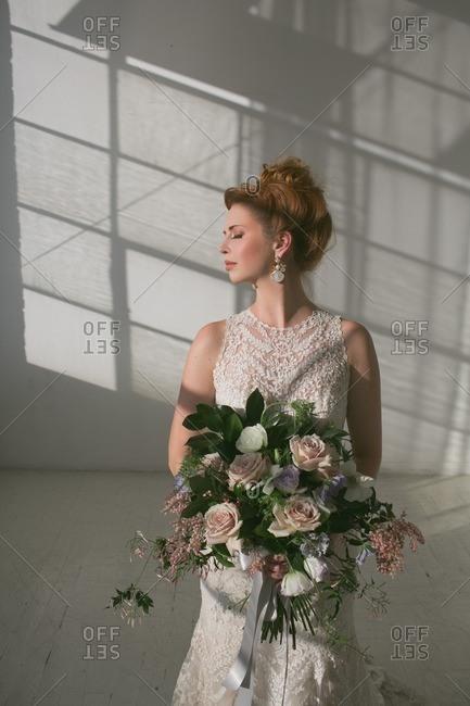 A bride in shadows