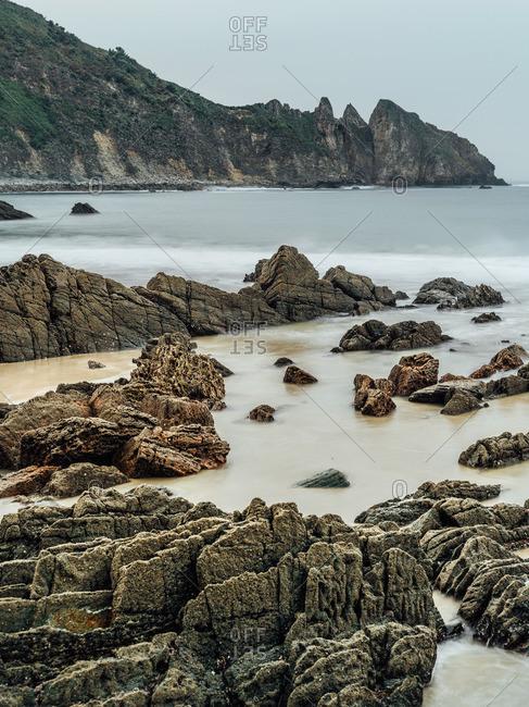 Rocky shore in Spain