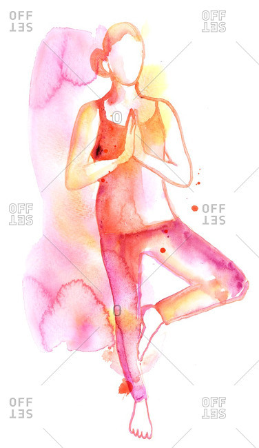Illustration of a woman in a yoga pose