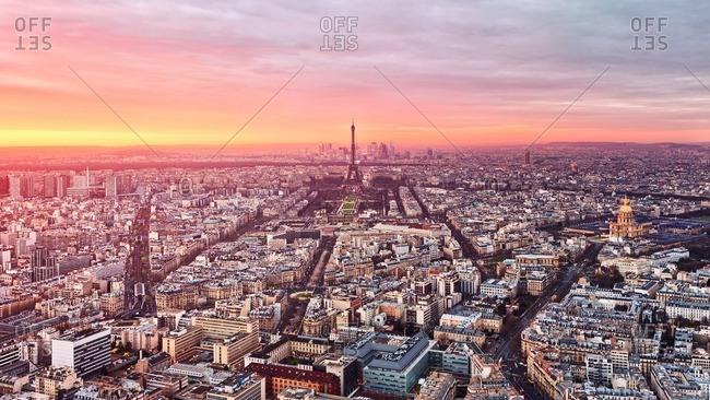 View of the Paris skyline