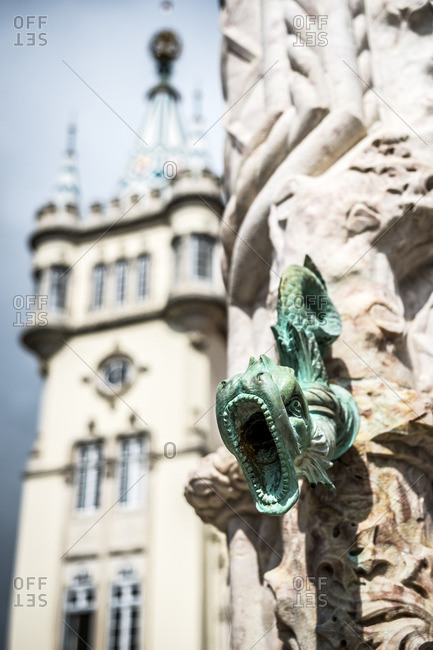 View of serpent on the Town Hall of Sintra (Camara Municipal de Sintra), Portugal