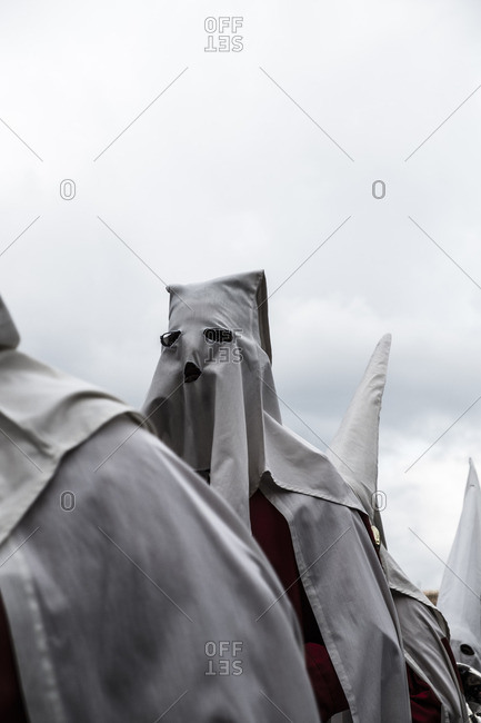 Religious ceremony in Avila during Holy Week in Spain
