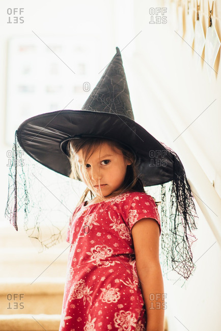 Girl in a witch's hat