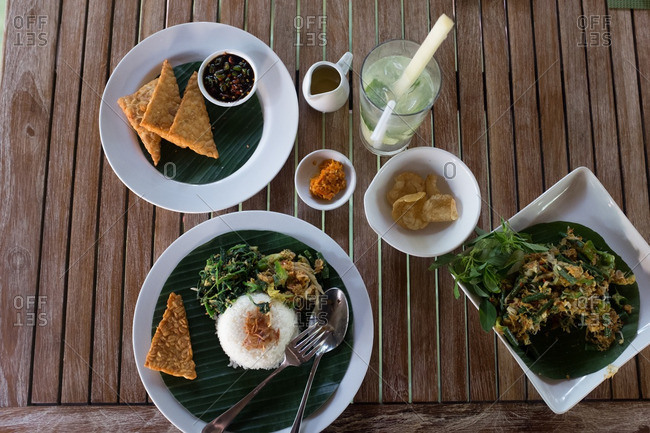 Traditional Indonesian meal
