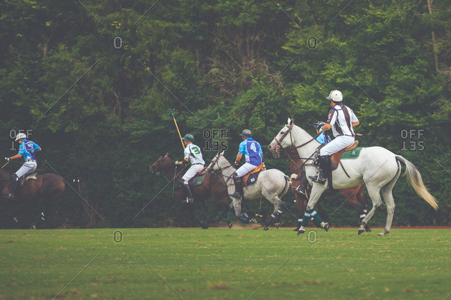 September 18, 2016: Two polo teams competing in a match