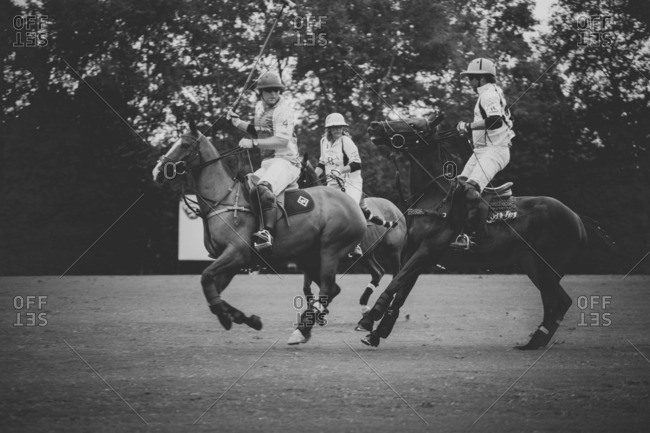 September 18, 2016: Polo players competing at a match