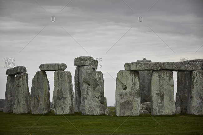 Wiltshire, England - May 7, 2016: Stonehenge in Wiltshire, England