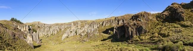 Peru, Cajamarca, Cumbe Mayo Archaeological Complex