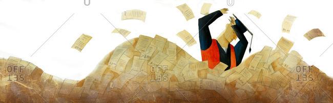 Man overwhelmed by bills