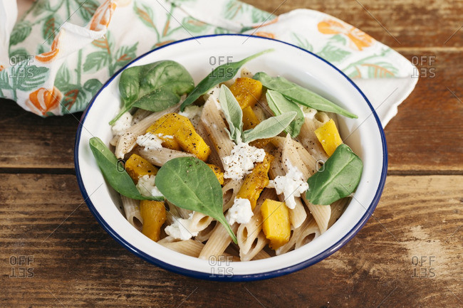 Pumpkin and pasta salad