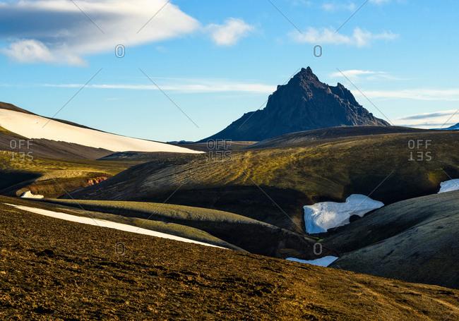 Scenic view, Krakatindur, Highlands, Iceland