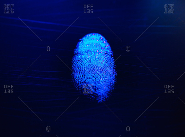 finger print as evidence of identity and as a password