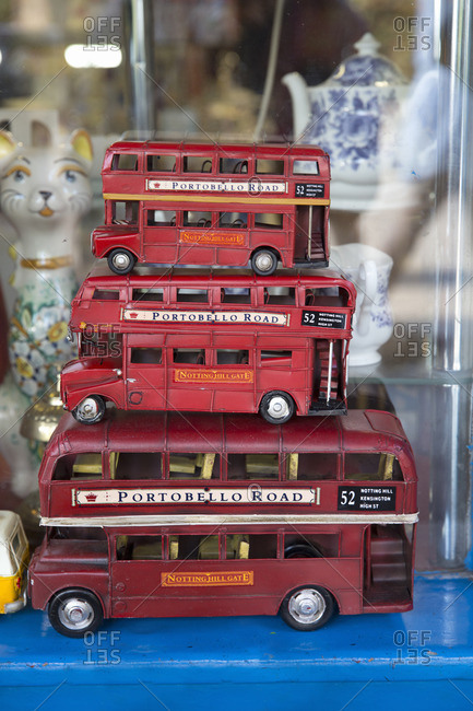 London, England - September 14, 2016: Toy double decker