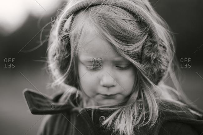 Portrait of girl in earmuffs