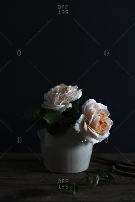 Roses in a vintage vase