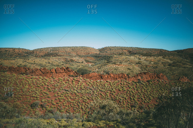 Mountain ridge in the Australian Outback