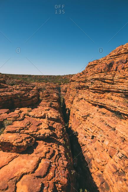 Rock formation in Kings Canyon in Australia