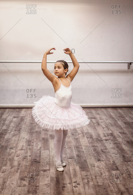 Ballet student in position