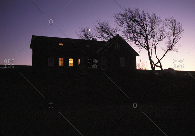 House in darkness