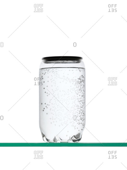 Fizzy drink in container