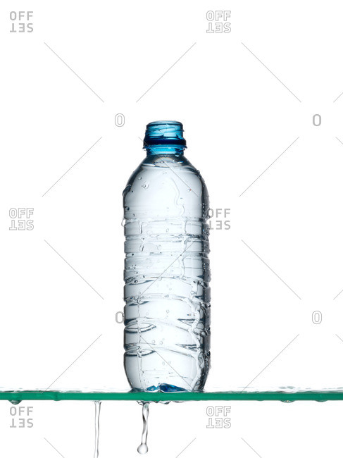 Water spilling from bottle