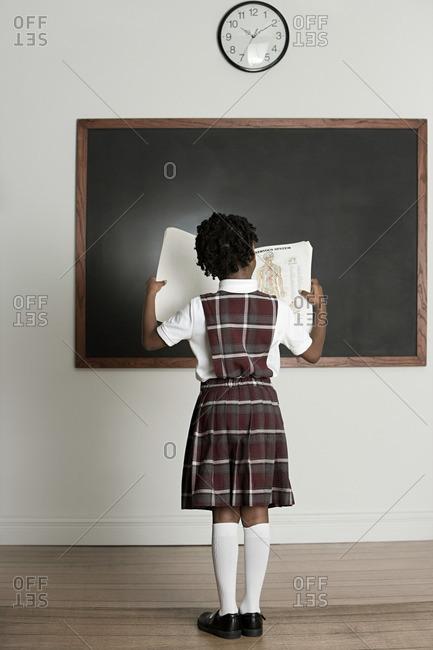 Girl reading a book - Offset