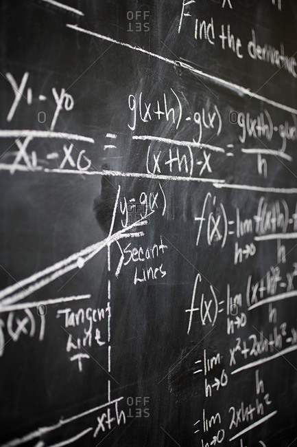 Calculus on blackboard