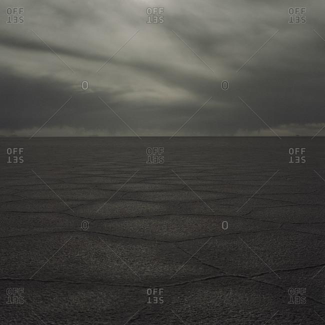Salar de Uyuni at dusk, Bolivia