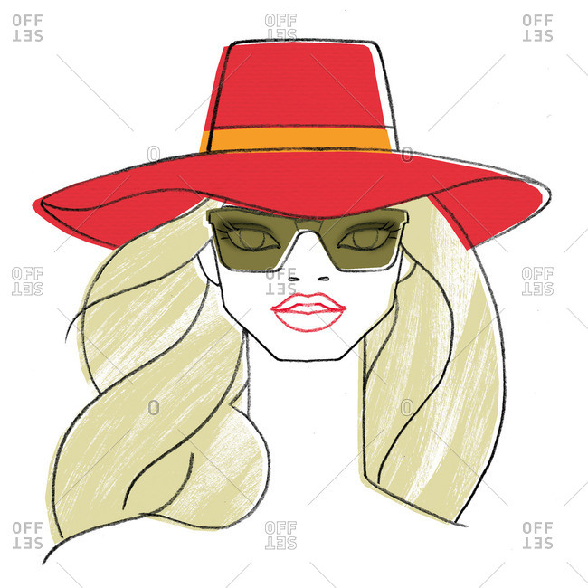 Woman in shades and a hat