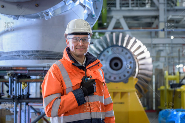 Portrait of station manager in gas-fired power station