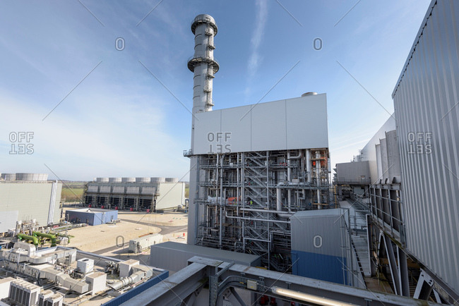 View of gas-fired power station during outage