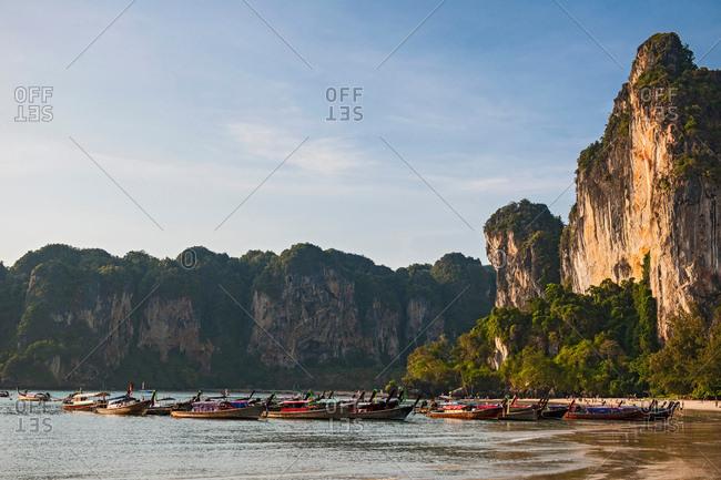 Long tail boats, Railway beach, Krabi, Thailand