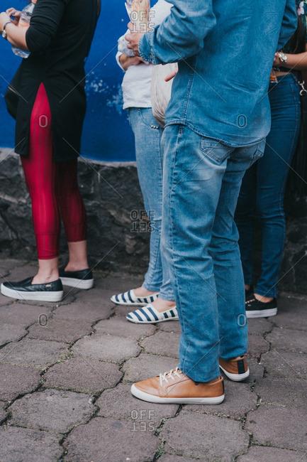People's footwear in Mexico City