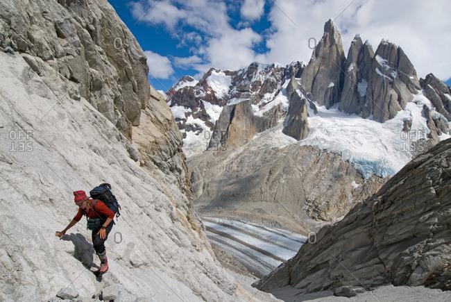 Climber at poincenot