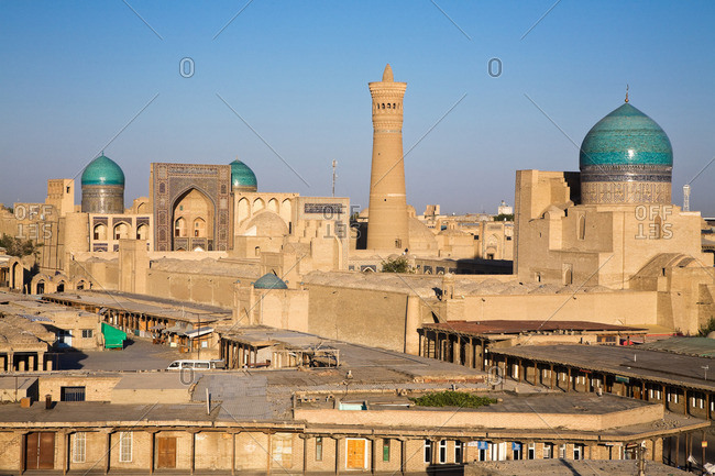 Kalon Minaret and mosque in Bukhara