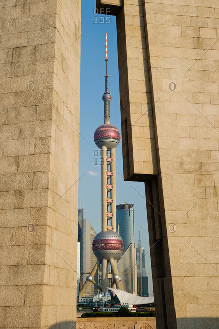 Pagoda of peoples heroes and oriental pearl tower