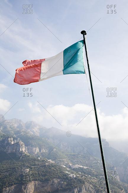 Italian flag Italian riviera - Offset