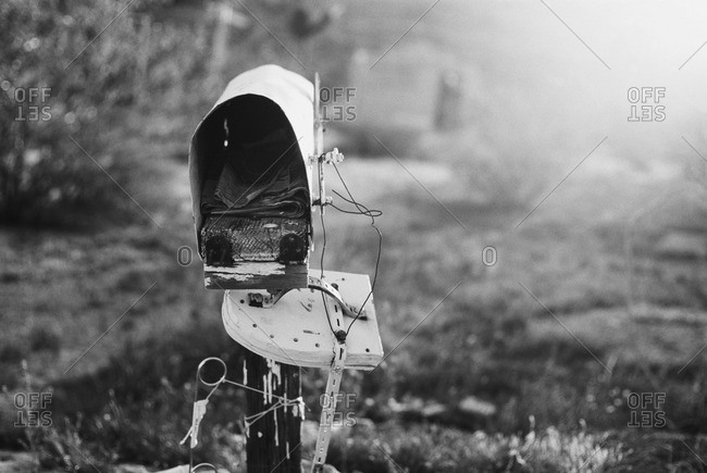 Old dilapidated mailbox