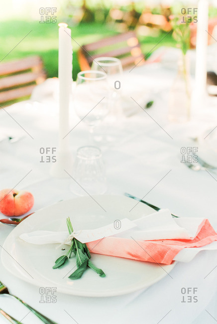 A wedding table arrangement
