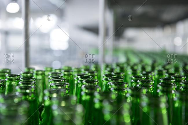 A beer bottling factory